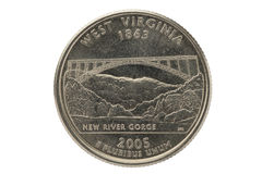West Virginia State Quarter Coin Stock Images