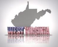West Virginia State vector illustration