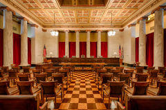 West Virginia Supreme Court chamber royalty free stock image
