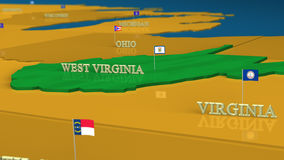 West Virginia - United States Series with flags Stock Photos