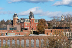 West Virginia University in Morgantown WV. MORGANTOWN, WEST VIRGINIA, USA - NOVEMBER 18: Woodburn Hall in West Virginia University in Morgantown WV on November stock photo