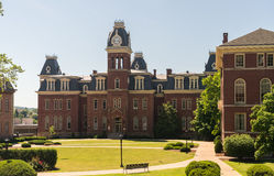 West Virginia University in Morgantown WV. Woodburn Hall and downtown buildings of campus of West Virginia University in Morgantown stock photos