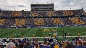 West Virginia university stadium. Football game stock image