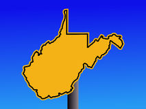 West Virginia warning sign Royalty Free Stock Photo