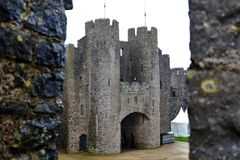 West wales castle where henry the 8th once ruled stock photo