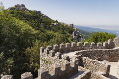 West wall of Moorish Castle Stock Photography