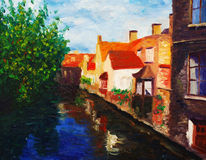 West watercourse. Oil painting about west watercourse Stock Photography