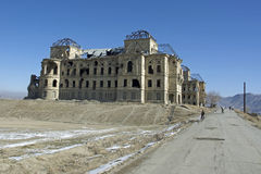 West wing of Darul Aman Palace, Afghanistan Stock Photo