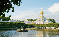 West wing of grand palace in peterhof Royalty Free Stock Photos