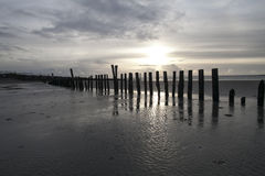 West Wittering Sunset royalty free stock photography