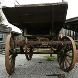West wooden cart Royalty Free Stock Photography