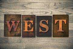 West Wooden Letterpress Theme Royalty Free Stock Photos