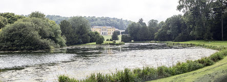 West Wycombe Park viewed across lake Stock Photo