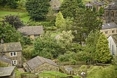 West Yorkshire Moorland Village in Northern England Royalty Free Stock Image