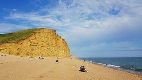 Westbay strand Dorset UK Fotografering för Bildbyråer