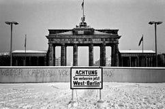 Westberlin, 1980, Brandreburg Stockbild