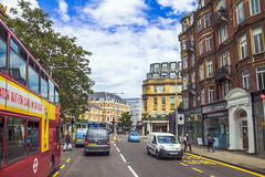 Westbourne Grove street in Notting Hill Gate  distract at the evening time. London Stock Photos