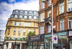 Westbourne Grove street in Notting Hill Gate  distract at the evening time. London Royalty Free Stock Photography