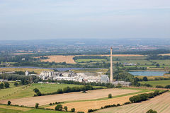 Westbury Chimney and Cement Works Royalty Free Stock Image
