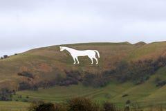 Westbury weißes Pferd in Wiltshire England stockfotos