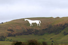 Westbury White Horse in Wiltshire England Stock Photos