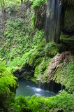 Westcave Waterfall and Pool Royalty Free Stock Images