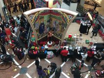 Westchester Mall in New York State, USA. 2014 Christmas celebrations at Westchester Mall in New York State, USA. It is a 890,000-square-foot (83,000 m2), upscale Royalty Free Stock Images