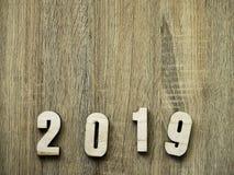 Westchnienie symbolu liczby Szczęśliwy nowy rok 2019 obraz stock