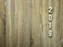 Westchnienie symbolu liczby Szczęśliwy nowy rok 2019 zdjęcie royalty free
