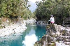 Westcoast, New Zealand. The Hokitika Gorge in Westland, New Zealand Stock Photo