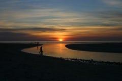 Westcoat di tramonto fotografie stock