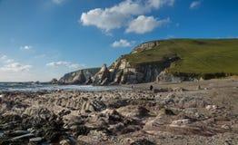 Westcombe Beach Devon. Westcombe beach in South Devon Uk stock photo