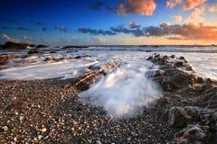 Westcombe Strand-Südschinken Devon Stockbild