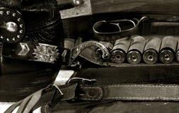 Westelijk cowboystilleven Stock Fotografie