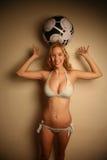Westelijk meisje in een bikini Royalty-vrije Stock Afbeeldingen