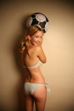 Westelijk meisje in een bikini Stock Foto's