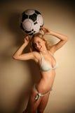 Westelijk meisje in een bikini Stock Fotografie