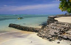 Westelijk Samoa beachscape Royalty-vrije Stock Afbeeldingen