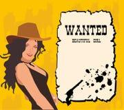 Westelijke Affiche Stock Afbeelding