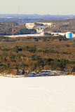 Westelijke de winterantenne van Wisconsin Stock Fotografie