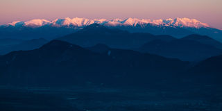 Westelijke en Hoge Tatras Royalty-vrije Stock Fotografie