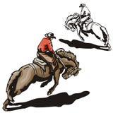 Westelijke illustratiereeks vector illustratie