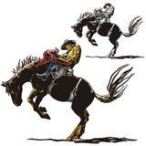 Westelijke illustratiereeks royalty-vrije illustratie