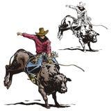 Westelijke illustratiereeks Stock Afbeelding