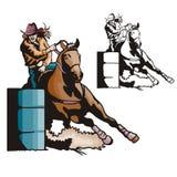 Westelijke illustratiereeks Royalty-vrije Stock Afbeeldingen