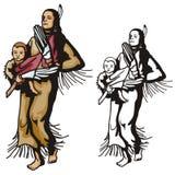 Westelijke illustratiereeks Royalty-vrije Stock Afbeelding