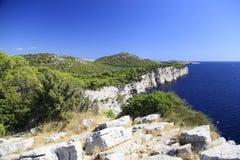 Westelijke kust van Dugi otok Stock Afbeelding