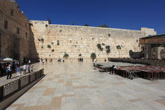 Westelijke Muur in de Oude Stad van Jeruzalem, Israël Stock Afbeelding
