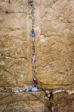 Westelijke Muur en mensennota's Stock Afbeeldingen