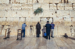 Westelijke muur in Jeruzalem Stock Foto's